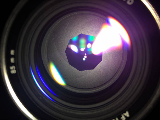 lens aperture blades - aperture stock pictures, royalty-free photos & images