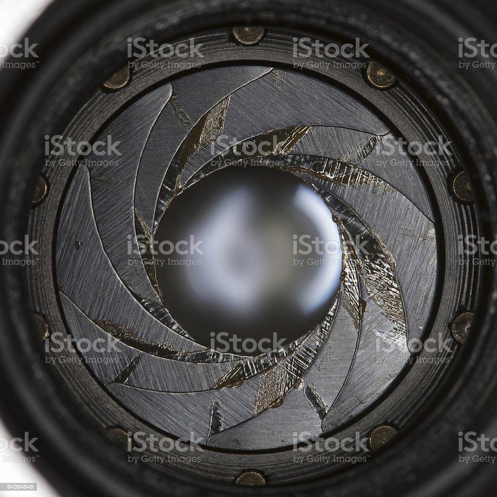 Lens aperture royalty-free stock photo
