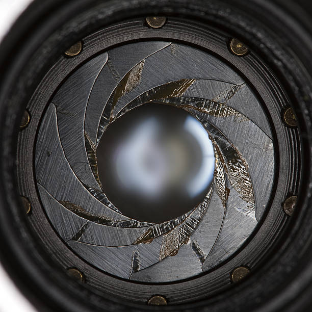 Lens aperture stock photo