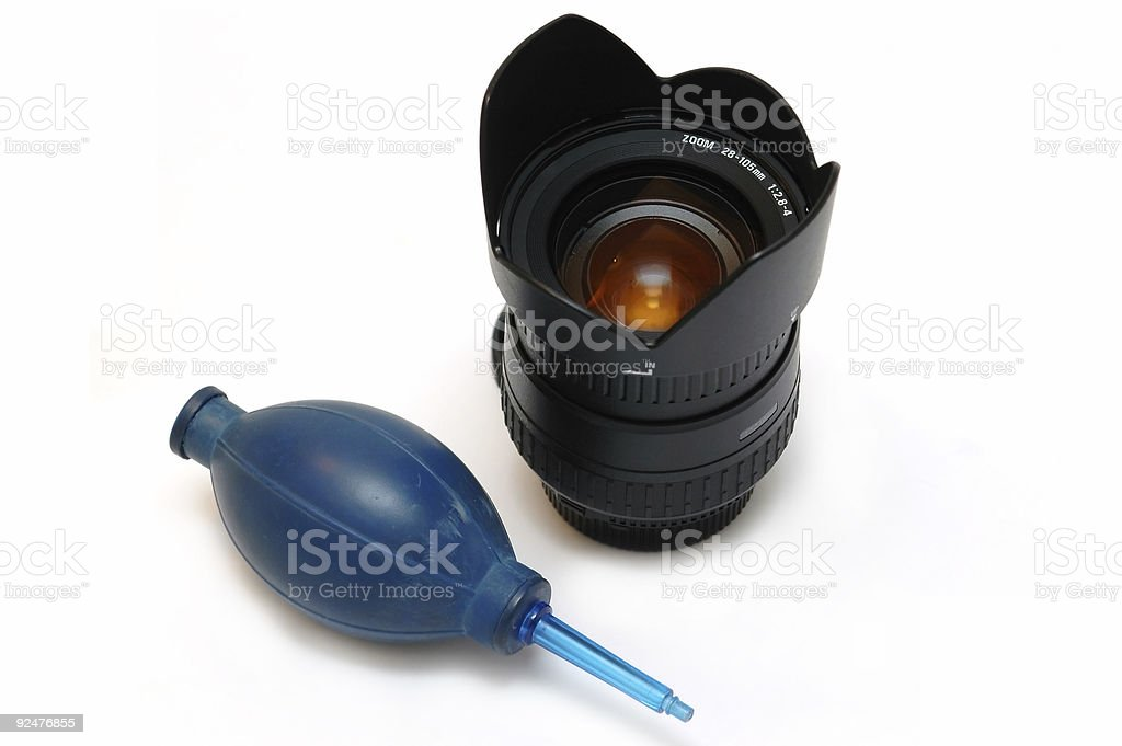 Lens cleaner royalty-free stock photo