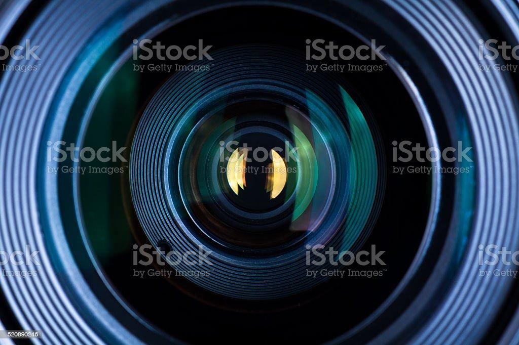 Lens Close Up stock photo