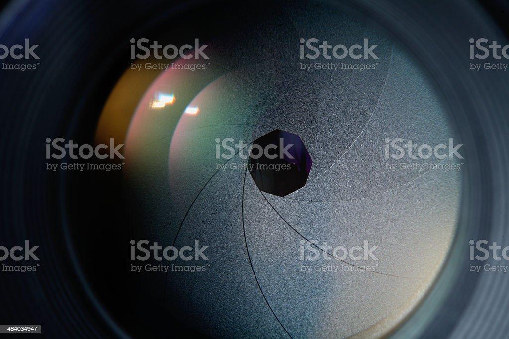 lens diaphragm stock photo