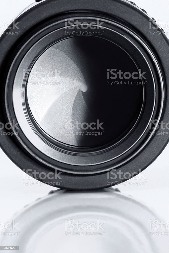 Lens diaphragm royalty-free stock photo