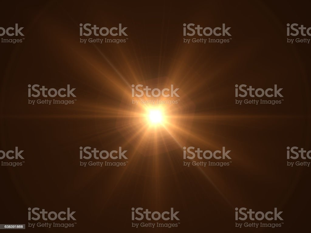 Lens Flare - Black Background - foto de acervo