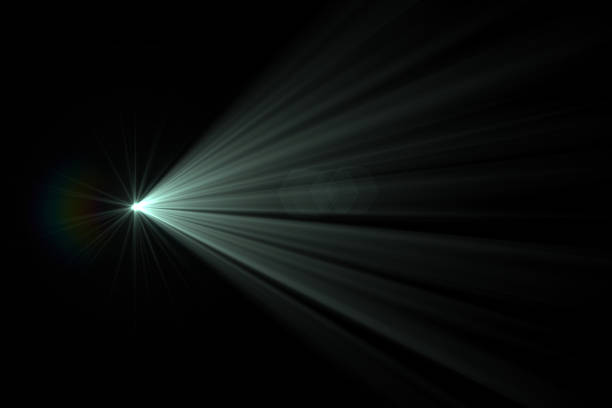 Lens Flare - Black Background stock photo