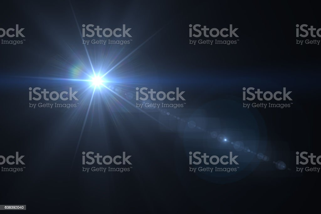 Lens Flare - Black Background - foto de stock