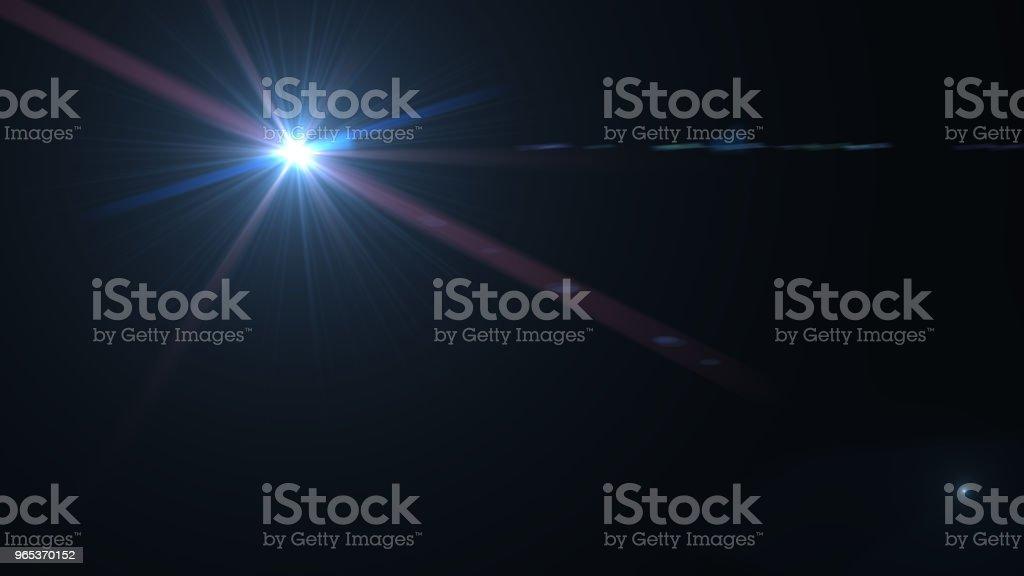 Effet de lentille flare sur fond sombre. Illustration numérique. - Photo de Abstrait libre de droits