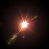 Lens flare on black