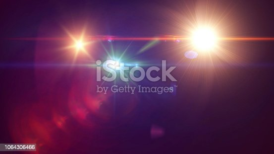 Lens Flare, Black Background, Light - Natural Phenomenon, Sunbeam, Star - Space