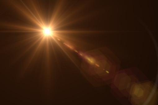 Lens Flare on Black Background, Solar Energy