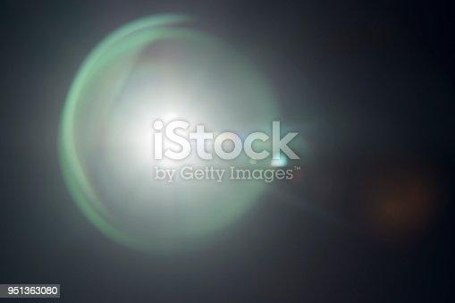 Lens flare black background