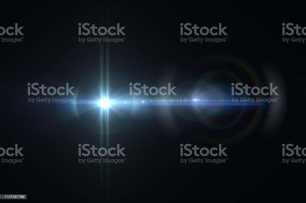 Lens Flare, Raum Licht, abstrakte schwarzen Hintergrund - Lizenzfrei Abfackelschornstein Stock-Foto