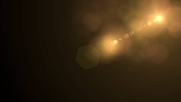 Lens Flare, Space Light, Sun Light, Abstract Black Background Lens Flare on Black Background, Solar Energy, Abstract, Sun light. spot lit stock pictures, royalty-free photos & images