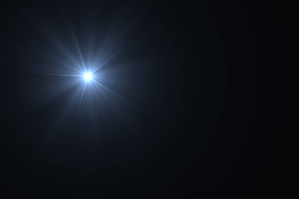lens flare, sun light, solar energy concept. - black background stock pictures, royalty-free photos & images