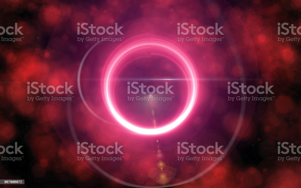 Lens Flare with fog light over Black Background.Beautiful circle light on love felling.Easy to add overlay or screen filter over Photos stock photo