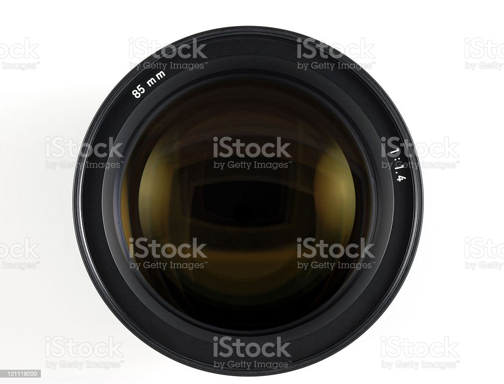 85 MM lens for a camera one single item stock photo