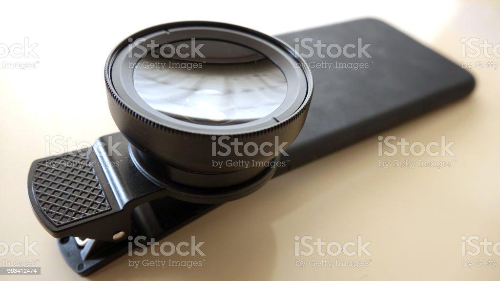 Lens for mobile phone - Zbiór zdjęć royalty-free (Aspiracje)