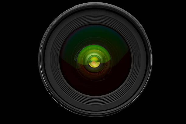 lens isolated on black - aperture stock pictures, royalty-free photos & images