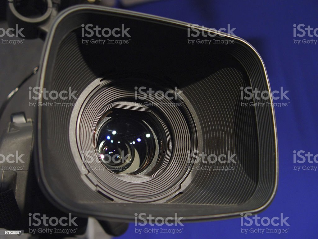 Lens of the video camera royalty-free stock photo