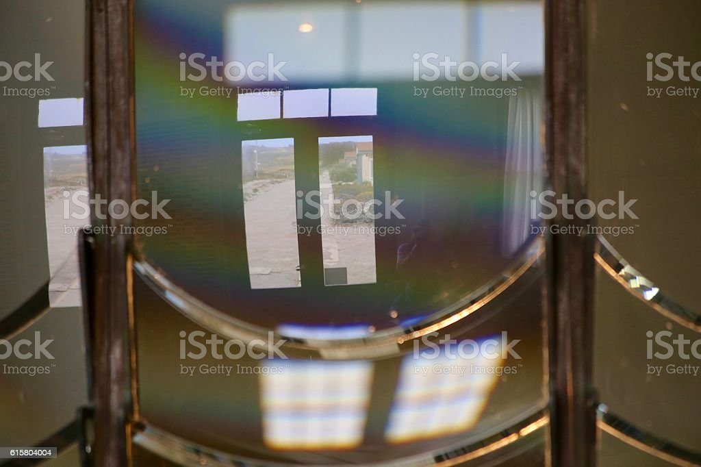 Lens Reflection stock photo