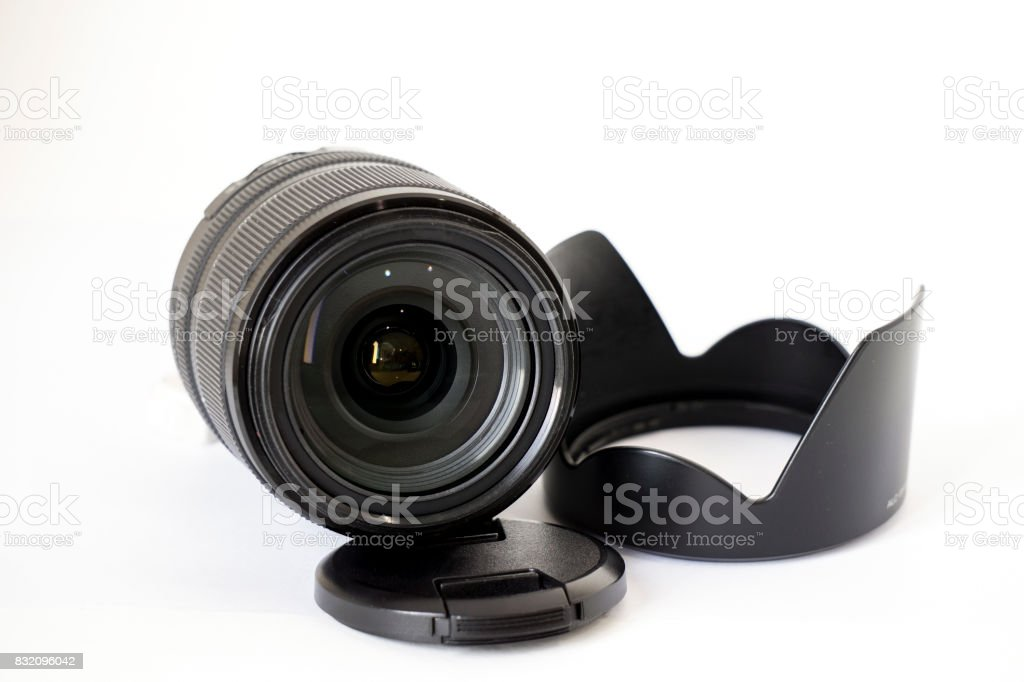 Lens with Hood stock photo
