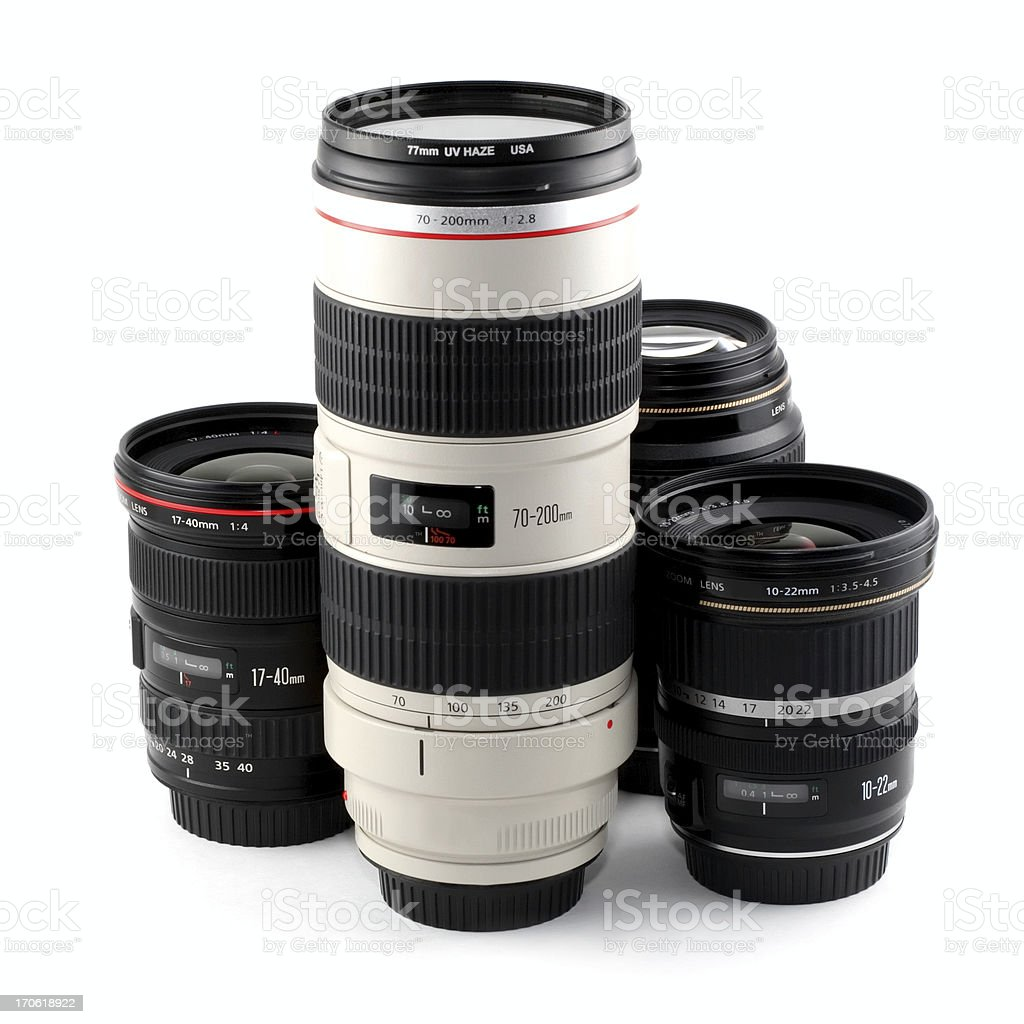DSLR Lenses royalty-free stock photo