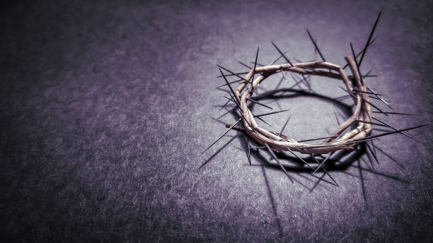Lent Season,Holy Week and Good Friday concepts Image of the crown of thorns Stock photo lent stock pictures, royalty-free photos & images