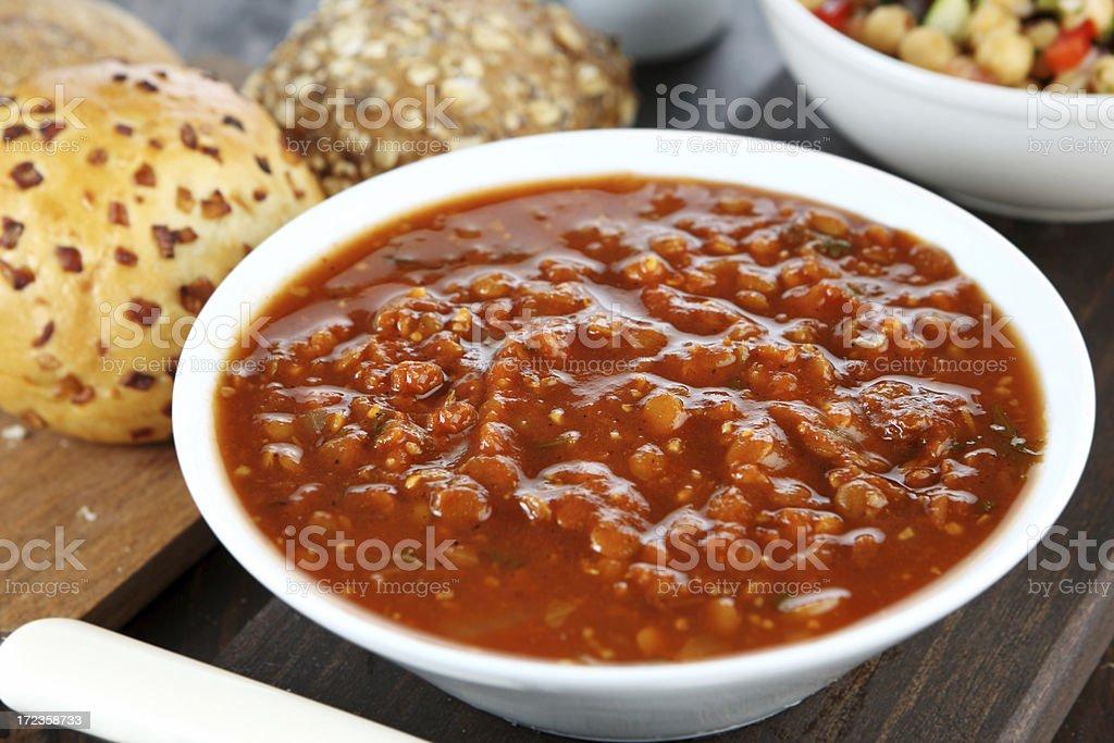 La sopa de lentejas foto de stock libre de derechos