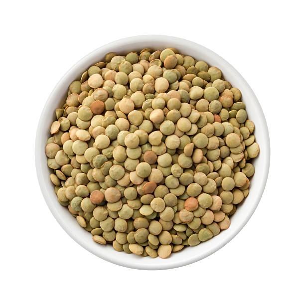 Lentils in a Ceramic Bowl stock photo