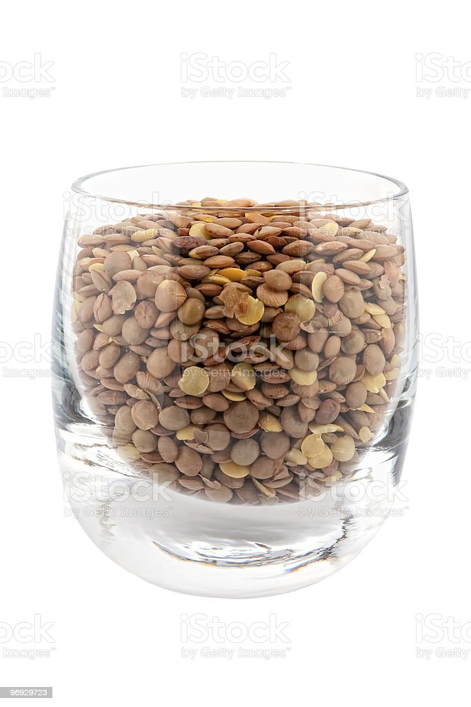 Lentils in glass royalty-free stock photo