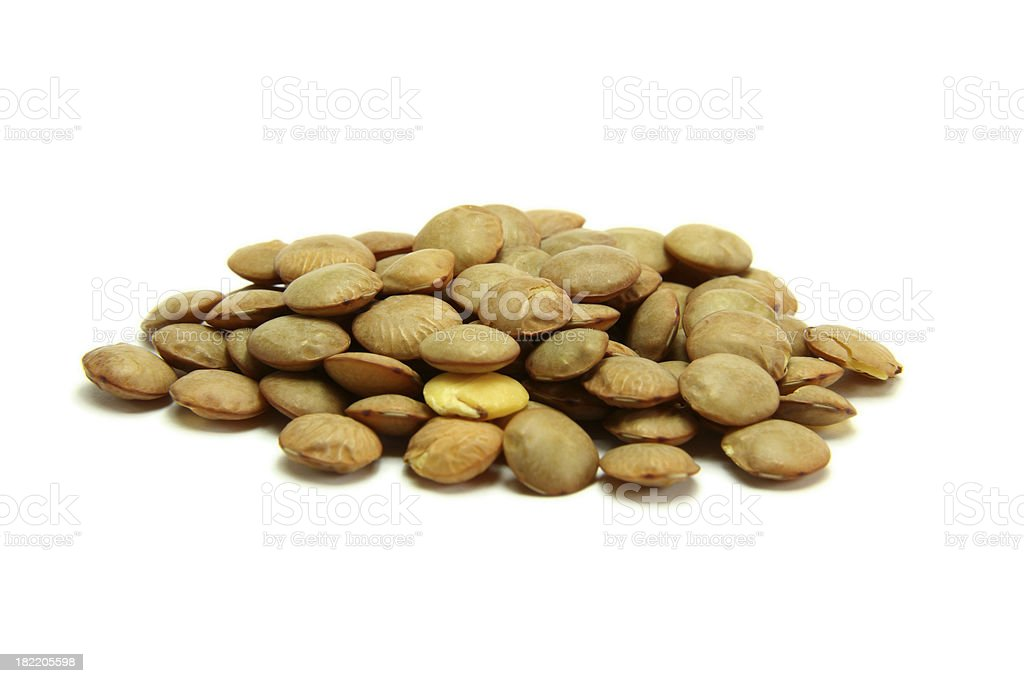 lentils isolated on white royalty-free stock photo