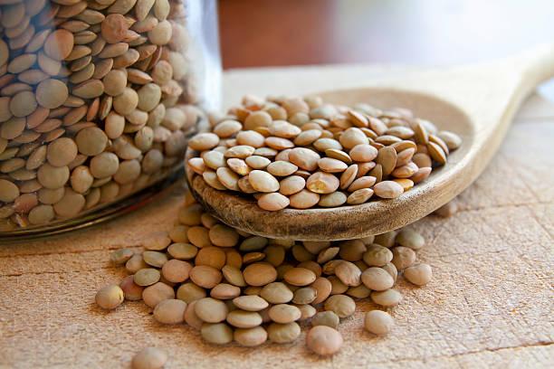 Lentils legumes beans stock photo