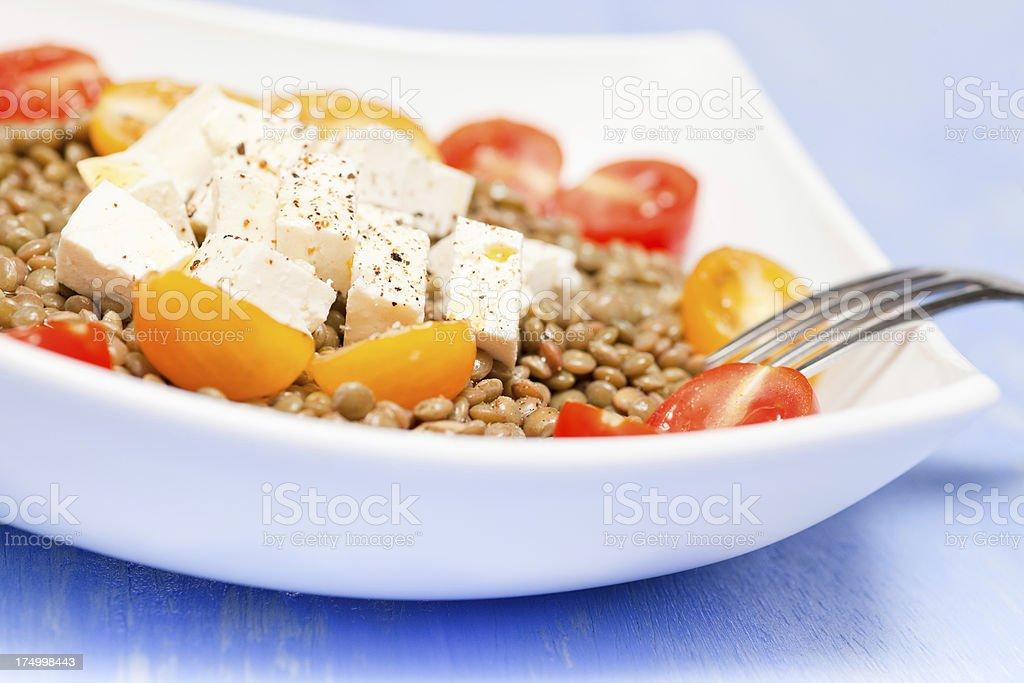 Lentils salad royalty-free stock photo