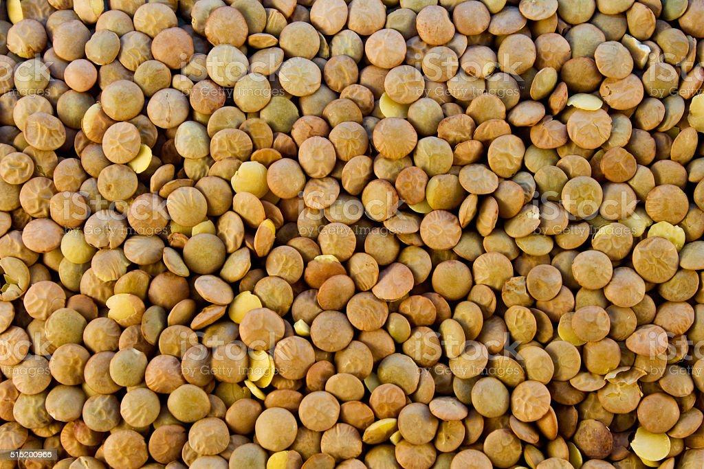 Lentils selective closeup stock photo