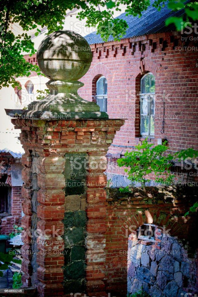 Lentvaris manor in Lithuania royalty-free stock photo