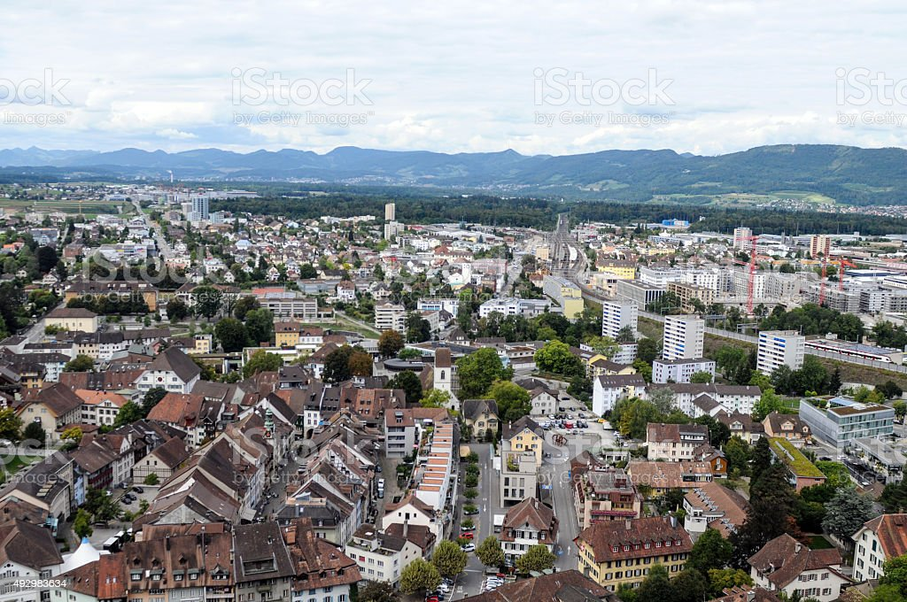 Lenzburg City stock photo