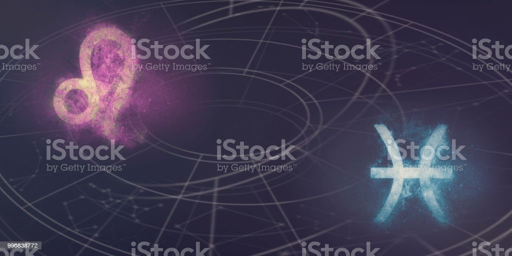 Leo And Pisces Horoscope Signs Compatibility Night Sky Abstract
