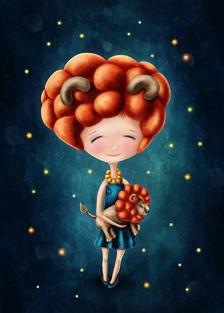Leo astrological sign girl stok fotoğrafı