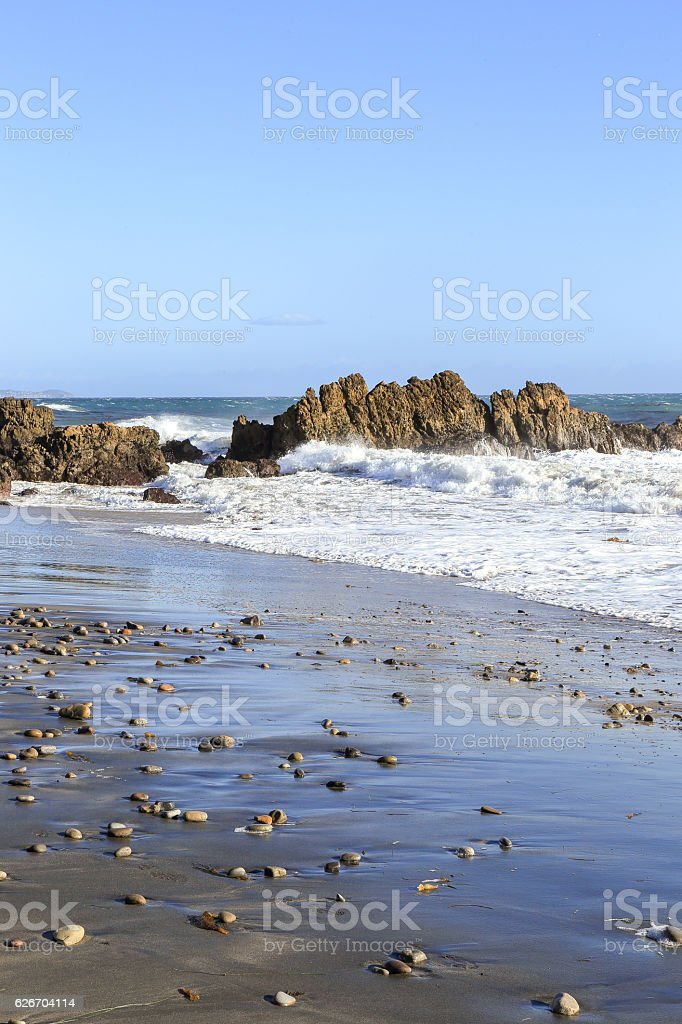 Leo Carrillo State Beach, Malibu California stock photo