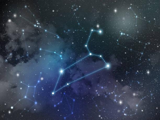 Aslan takımyıldızı yıldız zodyak stok fotoğrafı