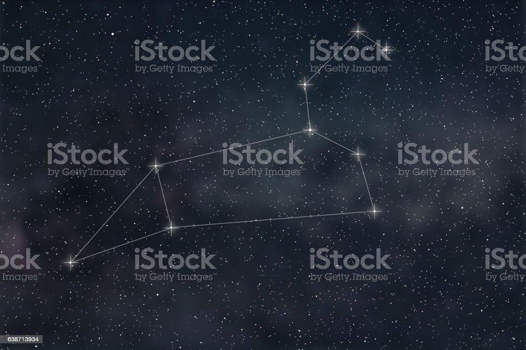 Leo Constellation. Zodiac Sign Leo constellation lines stok fotoğrafı