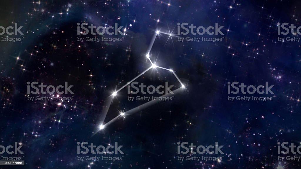 5 Leo Horoscope star white stok fotoğrafı