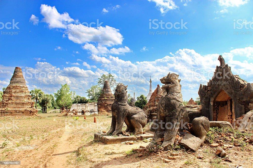 Leo myanmar stock photo