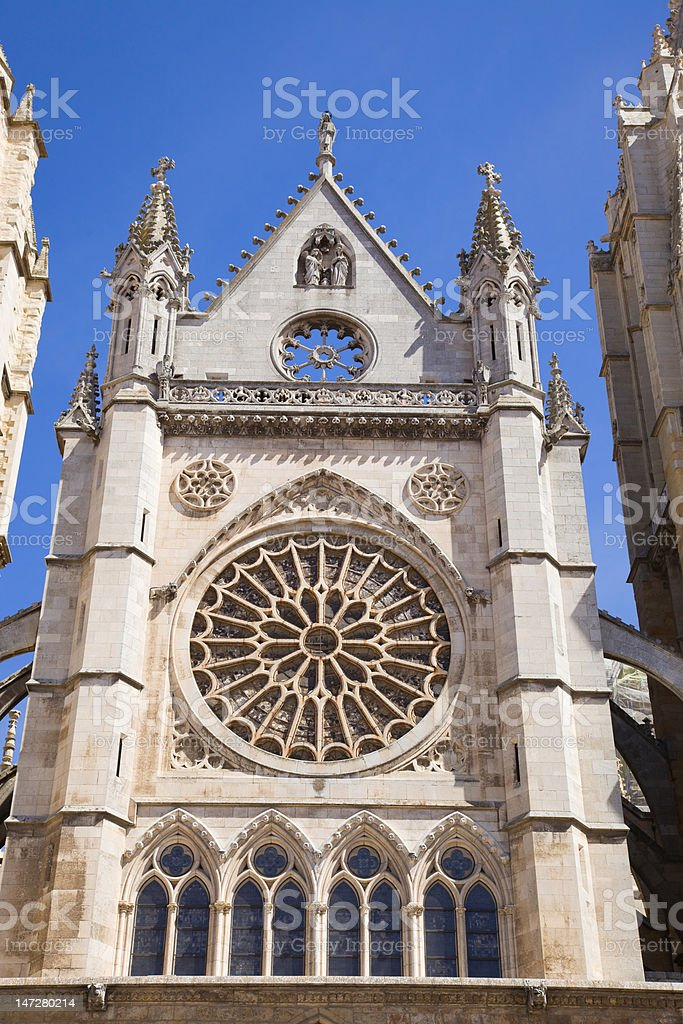 Leon Cathedral, Spain royalty-free stock photo