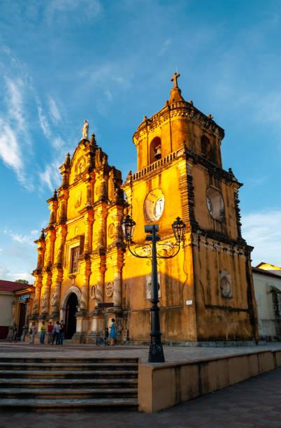 Leon Church Architecture, Nicaragua stock photo