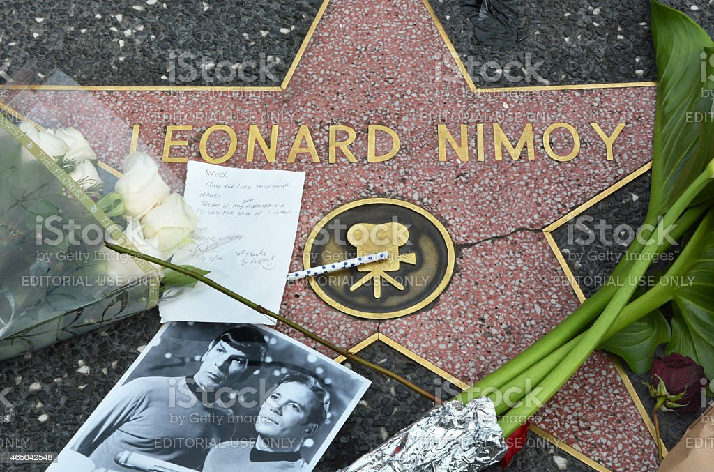 Leonard Nimoy Tribute stock photo
