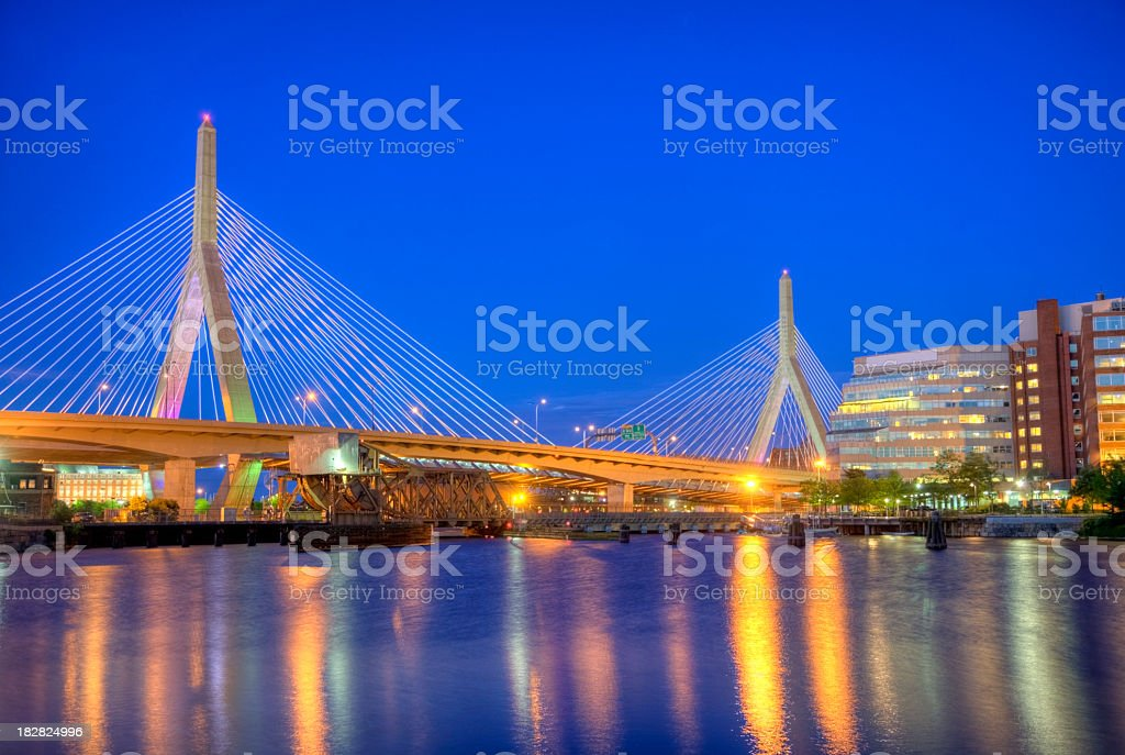 Leonard P. Zakim Bunker Hill Bridge stock photo