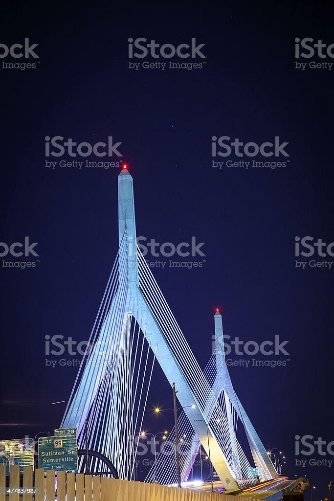 Leonard P. Zakim Bunker Hill Bridge royalty-free stock photo