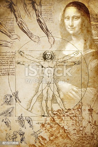 istock Leonardo's sketches and drawings: Composition 622070836