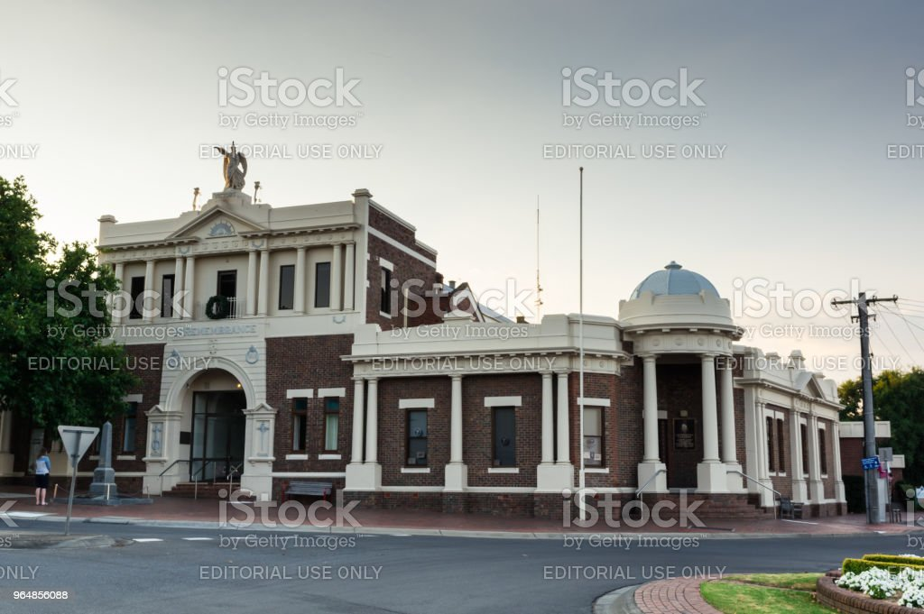 Leongatha Memorial Hall in South Gippsland in Victoria, Australia. royalty-free stock photo